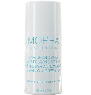 Morea Naturals Hyaluronic Acid Age-Delaying Serum with Vitamin C + Green Tea